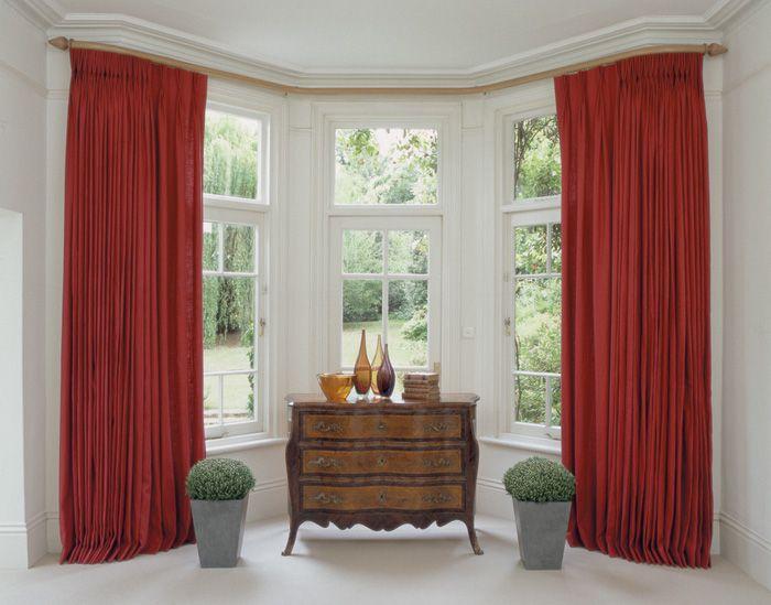 14 best bay window curtain poles images on pinterest bay. Black Bedroom Furniture Sets. Home Design Ideas