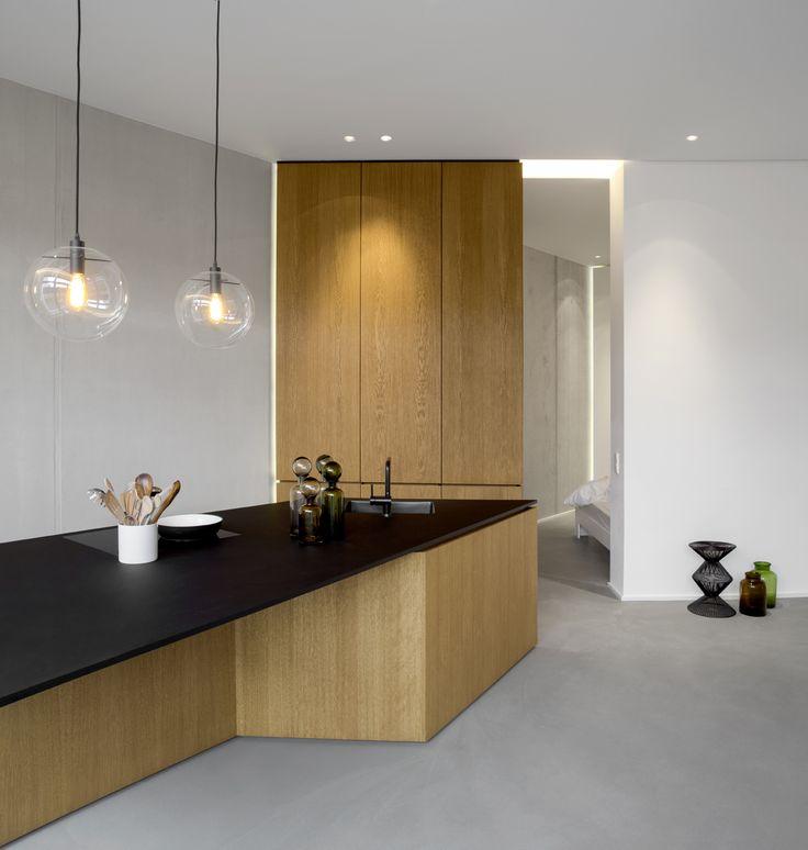 Arbeitsplatte Küche Grau. beton cire - traumhafte wandgestaltung ...