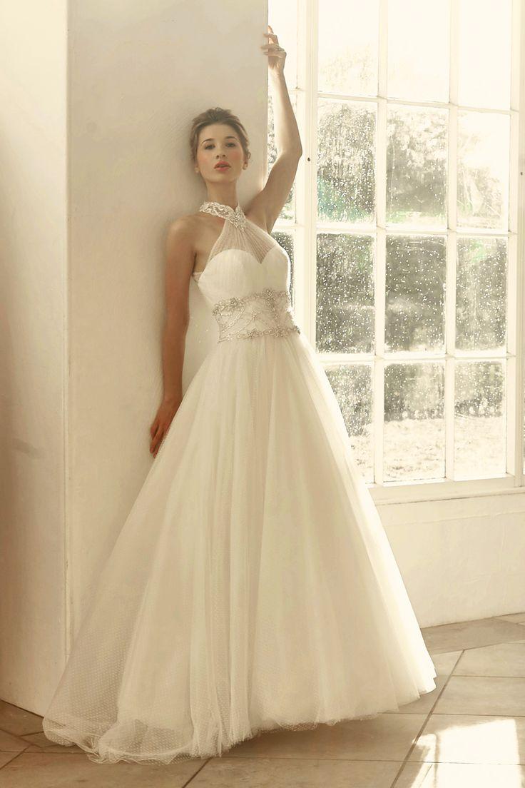 Style 2731, Benjamin Roberts #weddingdress #halterneck