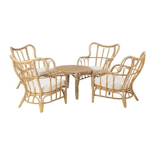 MASTHOLMEN 4-seat conversation set, outdoor IKEA Handmade by a skilled craftsman.