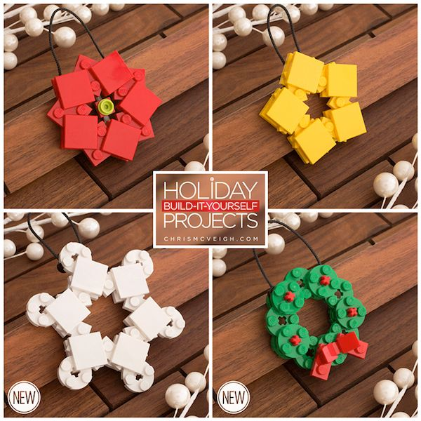 Decorate Your Christmas Tree With These LEGO Ornaments You Can Assemble Yourself - DesignTAXI.com
