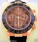 MENS ROSE GOLD CHOCOLATE ROLEX DAYTONA CHRONOGRAPH 2016 W/ BOX/PAPERS MINT CND