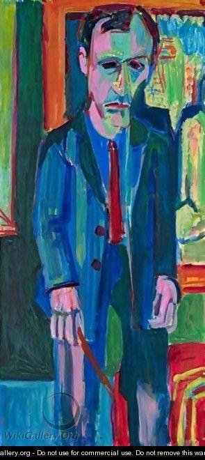 Portrait Of Hermann Scherer - Albert Muller