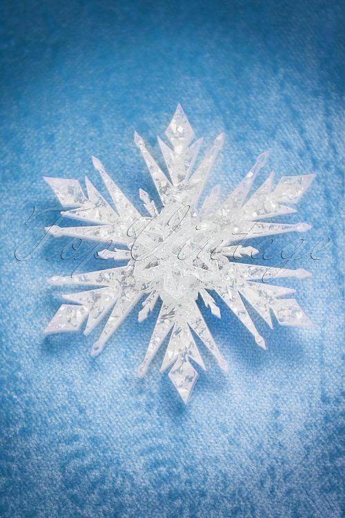 Deer Arrow TopVintage Exclusive ~ 50s Snowflake Brooch