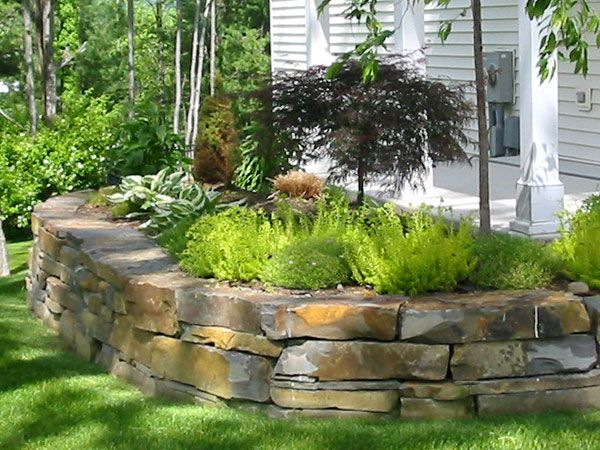 124 Best Images About Natural Stone Retaining Walls On Pinterest