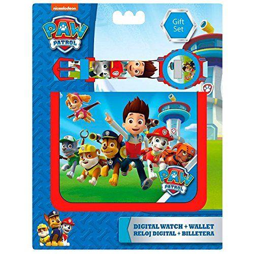 Kids Licensing – Set Portefeuille + Montre Digitale – Paw Patrol: Set portefeuille + montre à l'effigie de Paw Patrol Montre digitale…