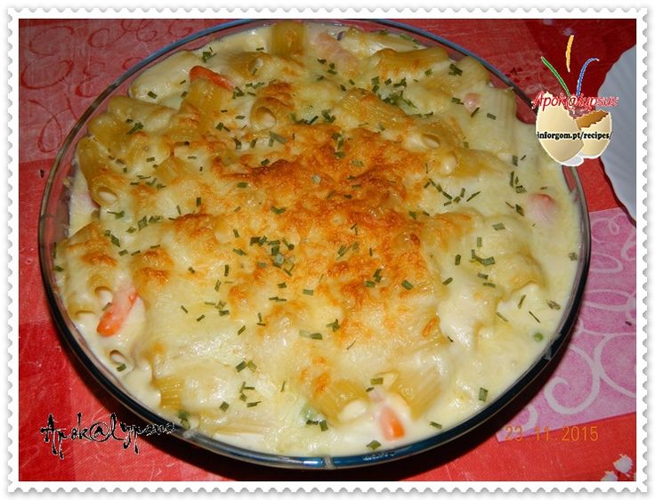 Macarronada no Forno com Béchamel e Yogonnaise – Cooking Recipes by Apok@lypsus