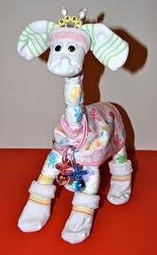 Voorbeeld kraamcadeau: Luier-giraf en rups