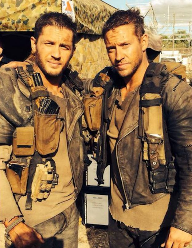 "We've now discovered the man who worked as his stunt double during the film. And he is TOO damn perfect. | Tom Hardy's ""Mad Max"" Body Double Is Just As Hot As Him"