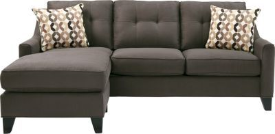 Cindy Crawford Home Madison Place Slate 2 Pc Sleeper Sectional.  Reversible chaise with Queen sized sleeper.