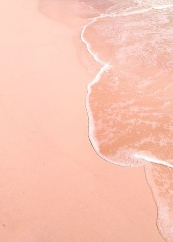 peachy pink salt waters AND sand ..