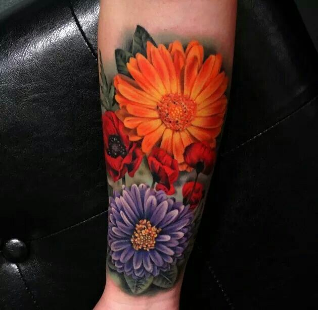 Beautiful flower tattoo   inked magazine