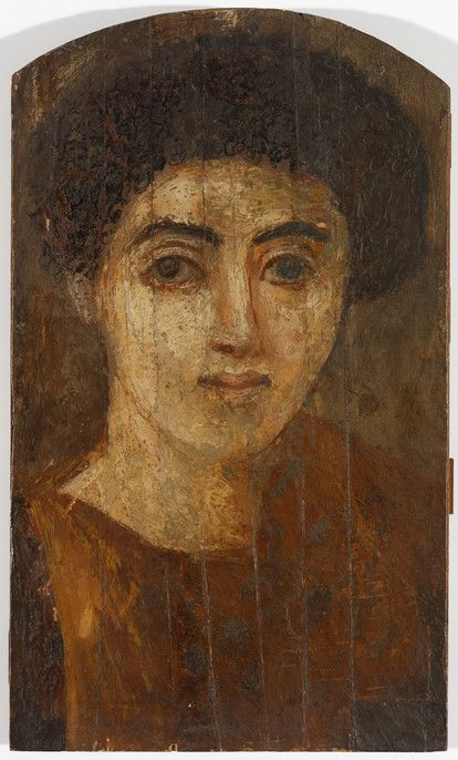 A Young Woman, ca. 70 CE, Fayyum, (Rhode Island School of Design Museum…