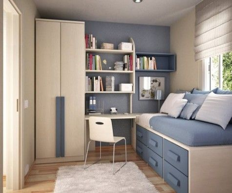 192 best Big Ideas for my Small Bedrooms images on Pinterest | Homes, Boxes  and Bureau design