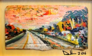 """Saatchi Art Artist Paolo Cervino; Painting, """"poetry on cordboard- on the road"""" #art"""