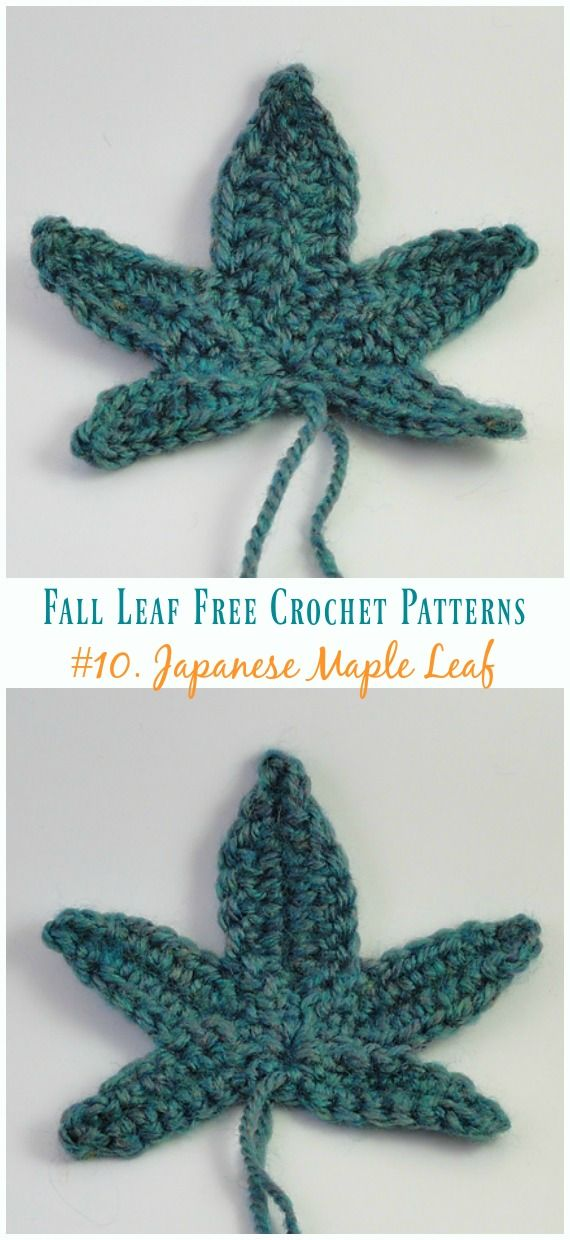 Japanese Maple Leaf Crochet Free Pattern - Autumn Leaf | fall ...