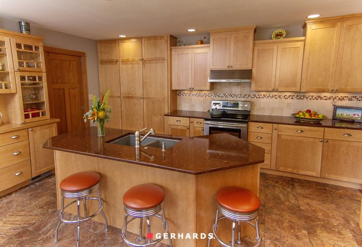 Maple wheat cabinetry by Kemper GerhardsStore KemperCabinets com