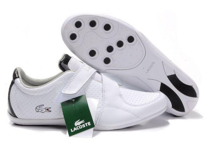 Mens Lacoste Shua Shoes White Black UK Sale 331