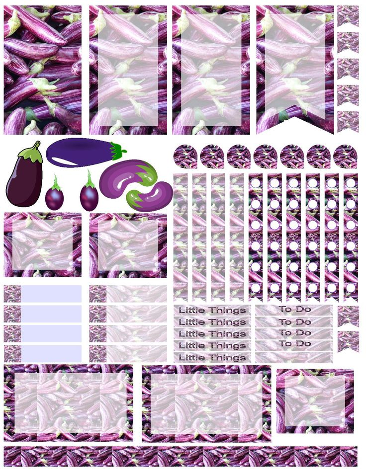 Eggplant! Probably a weird theme for a planner spread, but I love them anyway! Free planner printable stickers, sized for the large happy planner (print at 85% for regular happy planner). Stickers are free, but if you like them I ask you donate to my Alzheimer's Memory Walk. Stickers are through my facebook group: https://www.facebook.com/groups/plannerstickersforacure/