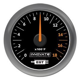 Innovate MTX Analog Exhaust Gas Temperature Gauge Kit - Black Dial
