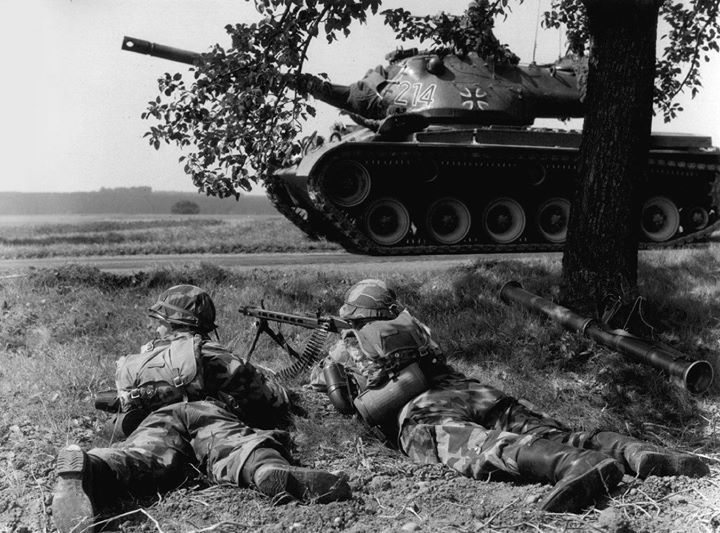 M47 Patton tank in service with the Bundeswehr 1960.
