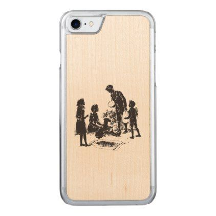 The Boxcar Children: Henry Has Two Surprises Carved iPhone 8/7 Case - black and white gifts unique special b&w style
