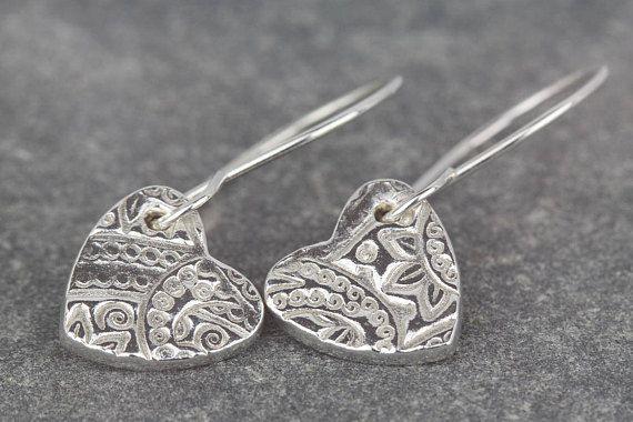 Long dangle sterling silver earrings  everyday dangles