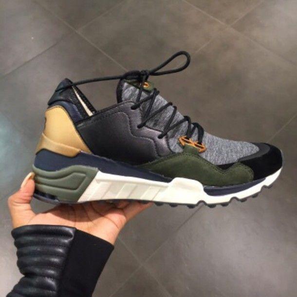 Green Sneakers, High Top Sneakers, Running Sneakers, Nike Sneakers, Nike  Running, Beautiful Shoes, Stuff To Buy, Khaki Timberlands, Adidas Tubular  Runner