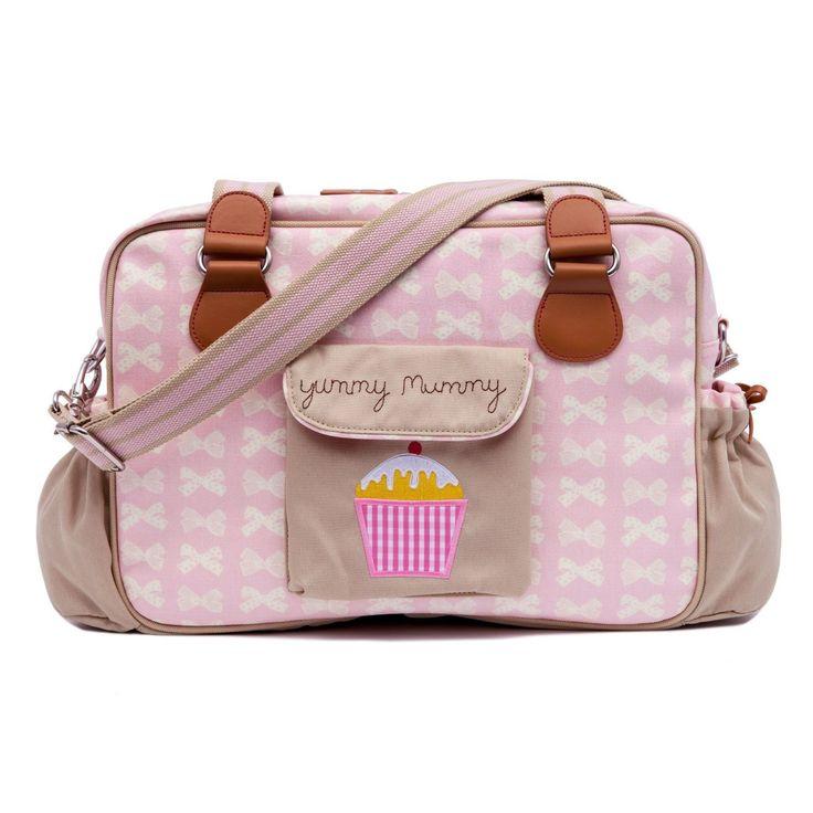 Pink Lining Yummy Mummy Wickeltasche Cream Bows on Pink: Amazon.de: Baby