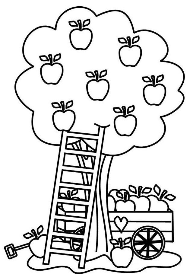 8 best plant coloring pages images on pinterest apple for Ten apples up on top coloring pages
