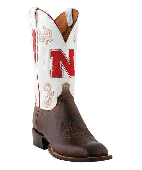 Lucchese Nebraska Cornhuskers Leather Boot - Men | zulily