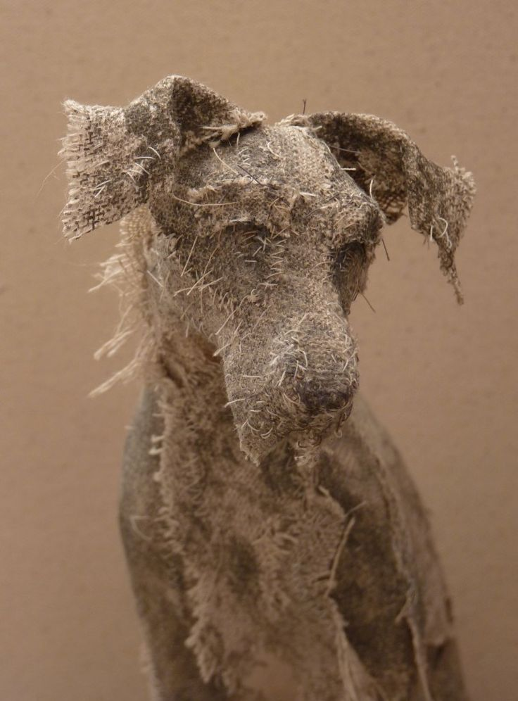 HOLY SMOKE offers a collection of unique textile animal sculptures. Layering scraps of materials and using a limited palette to create fragile, often threadbare textures with hanging threads and raw edges. The neutral quality of the linen works as a blank page on which to apply surface treatments using natural dyes, printing and stitching.