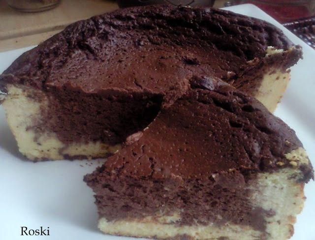 Tarta de queso y chocolate light