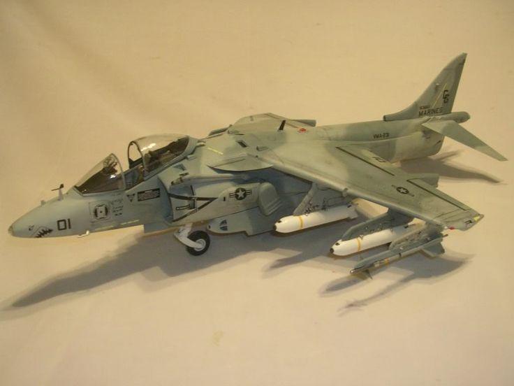 1/32 Trump Harrier Desert Storm Model aircraft, Plastic