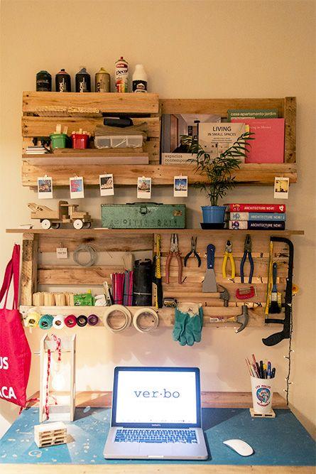 Painel de organização, perfeito para pequenas oficinas.