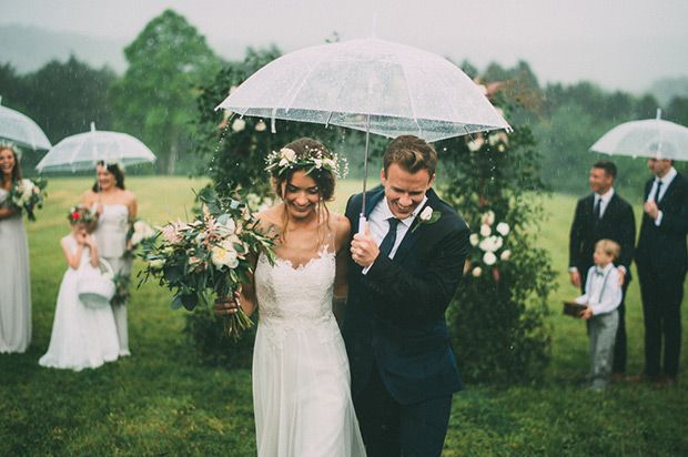 Our top tips on capturing the best photographs in wet and bad days for those who experince wedding rain.