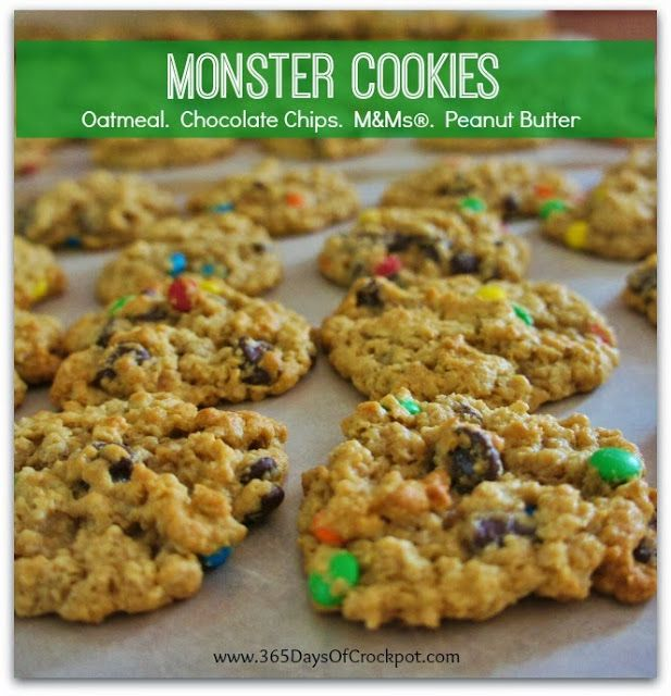 Monster Peanut Butter-Oatmeal-Chocolate Chip Cookies Recipes ...