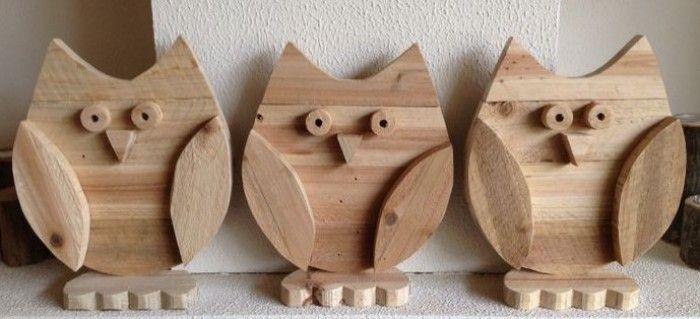 Uiltjes gemaakt van pallet hout.