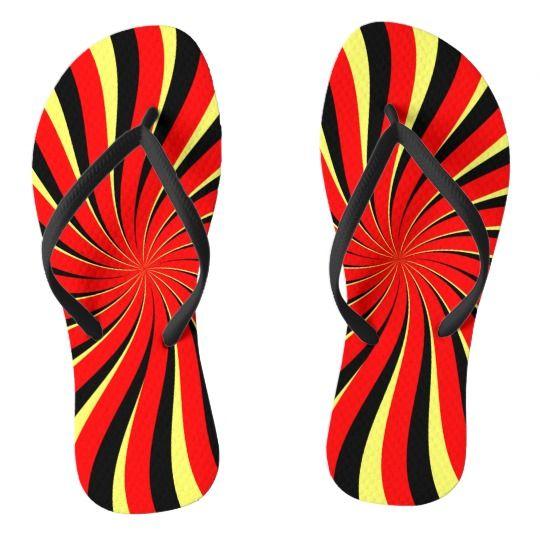 #Spiral #Black #Red #Yellow #Flip #Flops   #Zazzle https://www.zazzle.com/spiral_black_red_yellow_flip_flops-256840244166126599
