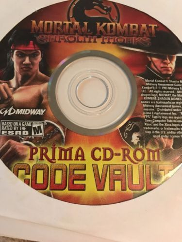 Mortal Kombat PC Code Vault Shaolin Monks