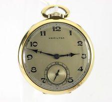 Antiguo Hamilton reloj de bolsillo 14K oro amarillo 44.35MM 17 joya 917