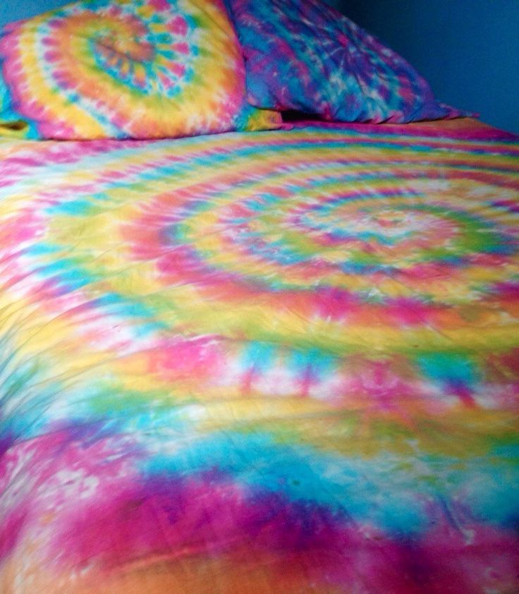 Tie Dye Sheet Set - 4 Piece Tie Dye Sheet Set - Custom Made Tie Dye Bedding - Tie Dye Bed Sheets
