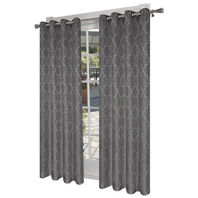 Design Decor L Room Darkening Solid Ash Grey Thermal Grommet Curtain Panel Lowes