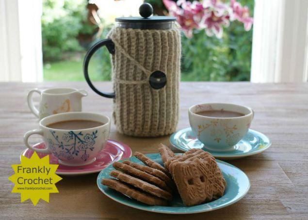 Coffee Pot Cosy Knitting Pattern : Coffee Pot Cosy Tutorial Frankly Crochet Tejidos Pinterest Coffee, Tu...
