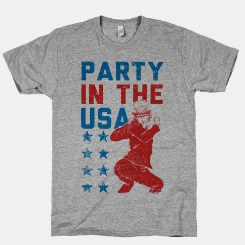 Sometimes, even Uncle Sam can't resist twerkin' it out on the dance floor. Strut your stuff alongside this 'Merican icon, because it's gonna be a Party in the USA all summer long.