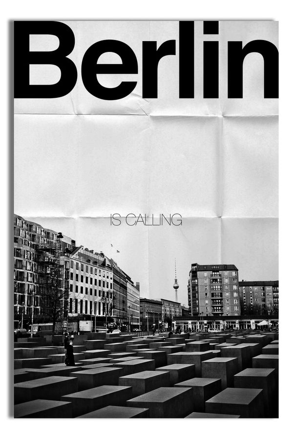 "love how perfectly ""Berlin"" fits against the top 3 sides :) Good ol' Helvetica"