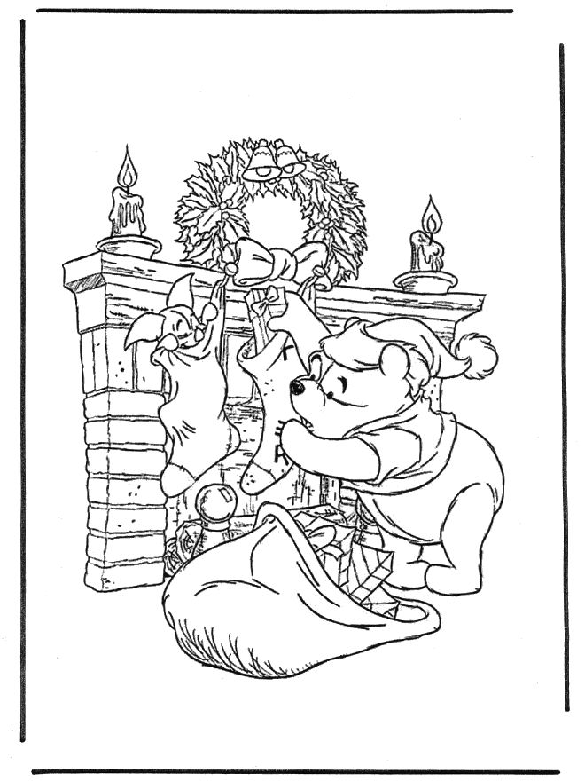 pooh christmas coloring pages - 110 best tigger color book pages 1 images on pinterest