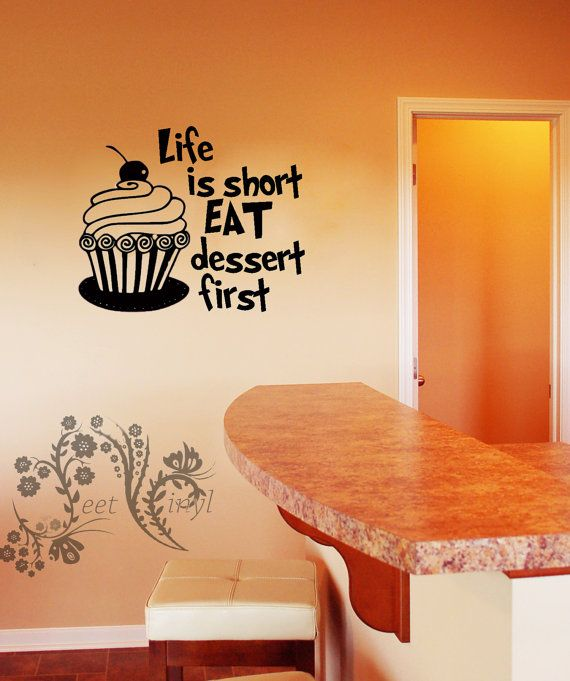 Best Vinyl Wall Art Images On Pinterest Vinyls Vinyl Decals - Vinyl decals for kitchen walls