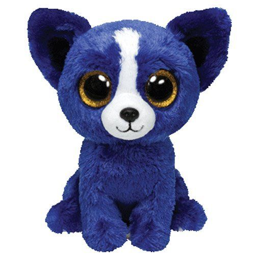 Ty Beanie Boos T-Bone - Chihuahua (Ty Trade Show Exclusive) TY Beanie Boos,http://smile.amazon.com/dp/B00I0DDXQC/ref=cm_sw_r_pi_dp_ri2ttb06QXS8Q7KH // Like Clifford's friend! ^.^ Nice royal blue coat.