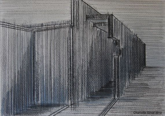 DRAWINGS SERIES 2 'CARLO SCARPA OR GUIDO GUIDI? / TIME TO MEDITATE'  Watercolor and pencil on paper, 30x20 cm, 2012.